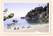 The beach of Taormina